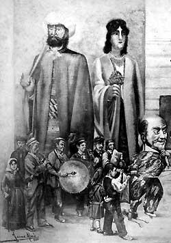 """Fragment del gravat amb la """"cobla de 3 quartans"""", del llegat Rubaudonadeu"""