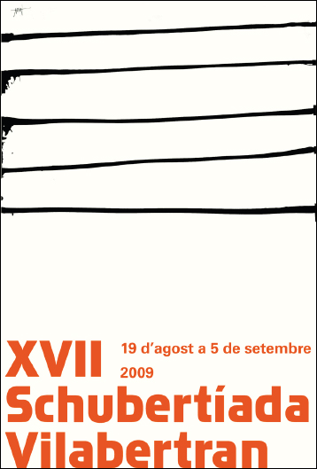 "Cartell ""Schubertíada a Vilabertran 2009"" Dissenyat per Frederic Amat"