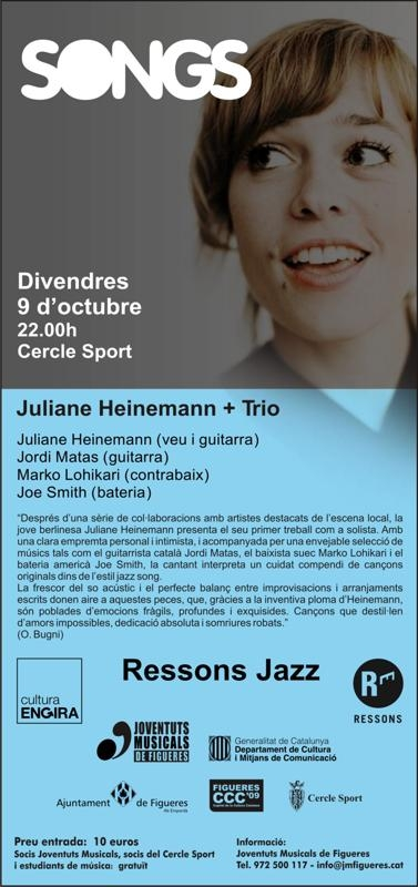 RESSONS JAZZ - JULIANNE HEINEMANN