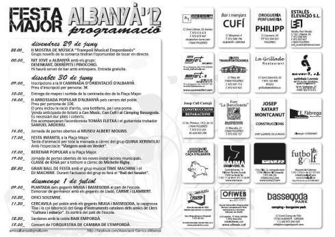 festa major albanya 2012 sonabe
