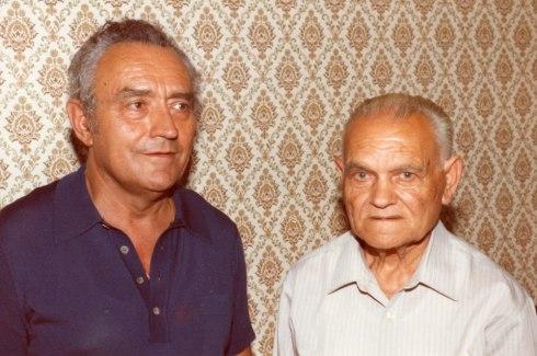 Pare i fill Mauné. Agost 1983. Foto cedida per Jaume Nonell, amb motiu d'una entrevista per la revista SOM.